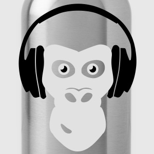 gorilla with headphones Tee shirts - Gourde