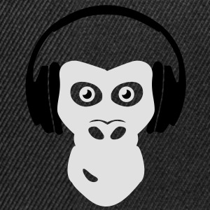 gorilla with headphones Tee shirts - Casquette snapback