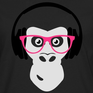 gorilla with headphones Tee shirts - T-shirt manches longues Premium Homme
