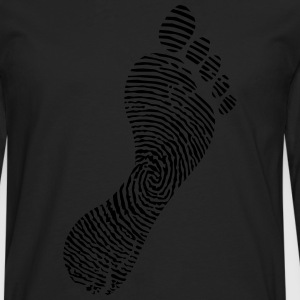 Fingerprint foot  T-Shirts - Men's Premium Longsleeve Shirt