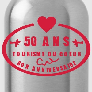 50 ans tampon poste anniversaire coeur Tee shirts - Gourde