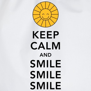 Keep calm and smile smile smile sunny summer sun T-shirts - Gymtas