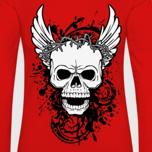 skull with wings T-Shirts - Women's Premium Longsleeve Shirt