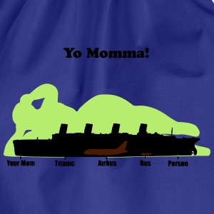 yomommawithtext T-Shirts - Turnbeutel