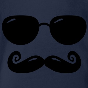 sunglasses and moustache Shirts - Baby bio-rompertje met korte mouwen