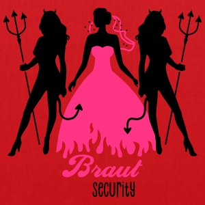JGA - Braut security - Bride - Team - Teufel 2C T-Shirts - Stoffbeutel