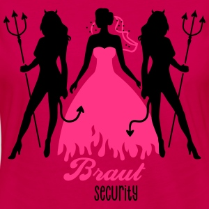 JGA - Braut security - Bride - Team - Teufel 2C T-Shirts - Frauen Premium Langarmshirt