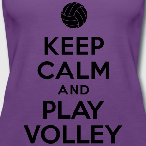 Keep calm and play Volley Tee shirts - Débardeur Premium Femme
