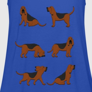 six bloodhounds T-shirts - Vrouwen tank top van Bella