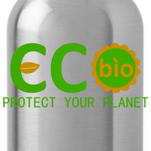 eco bio protect your planet T-shirts - Drikkeflaske