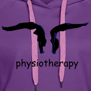physiotherapy body move  T-Shirts - Women's Premium Hoodie