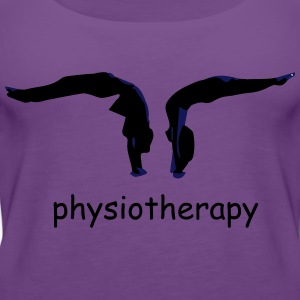 physiotherapy body move  T-Shirts - Women's Premium Tank Top