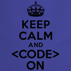Keep calm code on Tee shirts - Tablier de cuisine