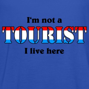 I'm not a Tourist, I live here - Lux T-shirts - Vrouwen tank top van Bella