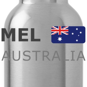 Classic T-Shirt MEL AUSTRALIA dark-lettered - Water Bottle