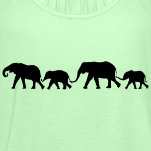 Elephant Family  T-Shirts - Women's Tank Top by Bella