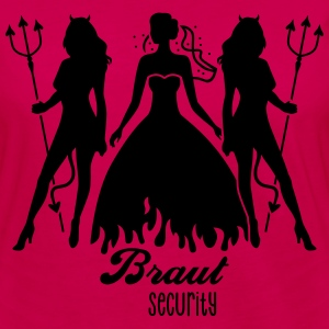 JGA - Braut security - Bride - Team - Teufel 1C T-Shirts - Frauen Premium Langarmshirt