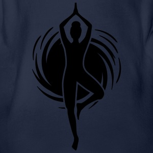 Yoga - Joga - Pilates - Power Yoga - Sport - 1C T-Shirts - Baby Bio-Kurzarm-Body