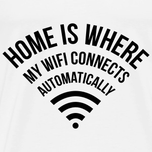 WIFI home is where my wifi connects automatically Tabliers - T-shirt Premium Homme