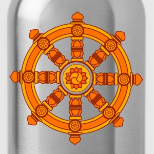 Dharma Wheel of Fortune, Buddhism, Chakra Bluzy - Bidon