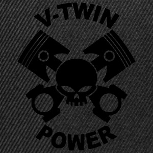 V-twin power skull Tee shirts - Casquette snapback