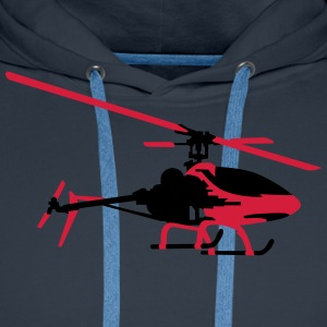 helicopter model T-Shirts - Men's Premium Hoodie