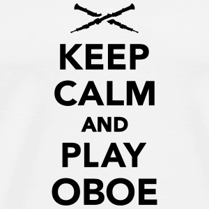 Keep calm and play Oboe Flaschen & Tassen - Männer Premium T-Shirt