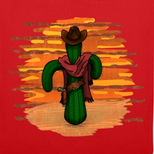 cowboy kaktus sunset DIGITAL T-Shirts - Stoffbeutel