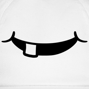 Grinsender lachender 1 tooth baby mouth T-Shirts - Baseball Cap