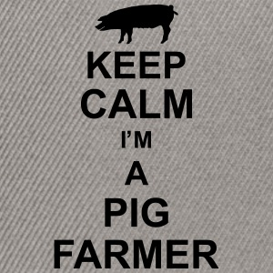 keep_calm_im_a_pig_farmer_g1 Shirts - Snapback cap