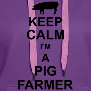 keep_calm_im_a_pig_farmer_g1 Tops - Frauen Premium Hoodie