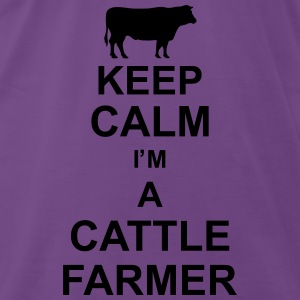 keep_calm_im_a_cattle_farmer_g1 Tops - Men's Premium T-Shirt
