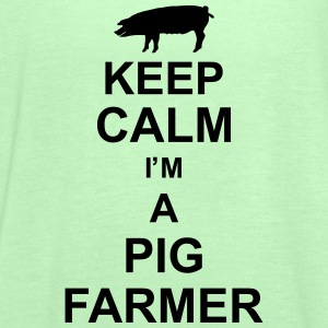 keep_calm_im_a_pig_farmer_g1 Magliette - Top da donna della marca Bella