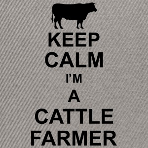 keep_calm_im_a_cattle_farmer_g1 Magliette - Snapback Cap