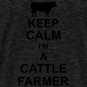 keep_calm_im_a_cattle_farmer_g1 Tröjor - Premium-T-shirt herr