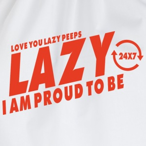 Proud to be lazy T-Shirts - Drawstring Bag