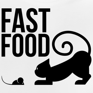 fast food - cat with mouse Shirts - Baby T-Shirt