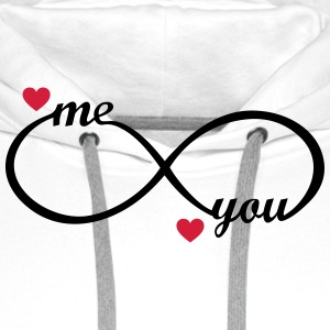 I love you My Boyfriend Girlfriend Me You forever   Aprons - Men's Premium Hoodie