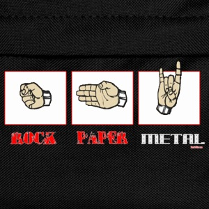 Rock paper METAL - Kinder Rucksack