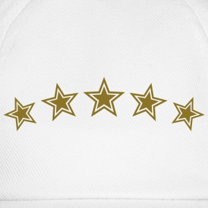 5 Stars, Gold, Best, Sports King, Winner, Champion - Baseball Cap