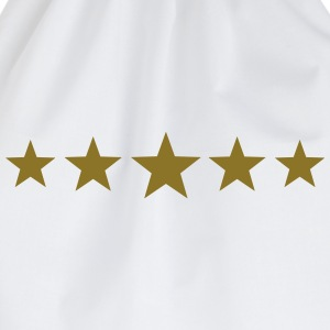 5 Stars, Gold, Best, Winner, Champion, Football,   - Drawstring Bag