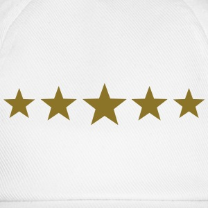5 Stars, Gold, Best, Winner, Champion, Football,   - Baseball Cap