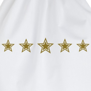 5 Stars, Gold, Win, Winner, Champion, Record, Team - Drawstring Bag