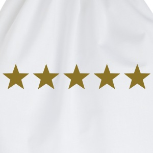 5 Stars, Gold, Best, Winner, Champion, Hero, five  - Drawstring Bag