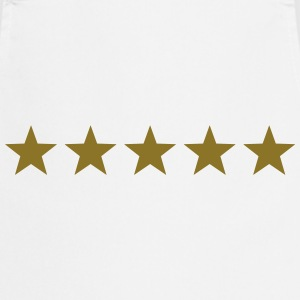 5 Stars, Gold, Best, Winner, Champion, Hero, five  - Cooking Apron