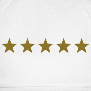 5 Stars, Gold, Best, Winner, Champion, Hero, five  - Baseball Cap