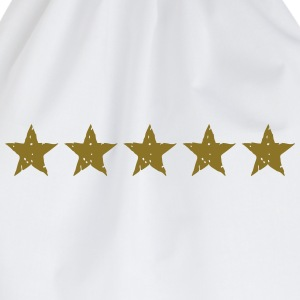 5 Stars, Gold, Best, Winner, Champion, Team, five  - Drawstring Bag