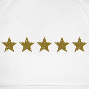 5 Stars, Gold, Best, Winner, Champion, Team, five  - Baseball Cap