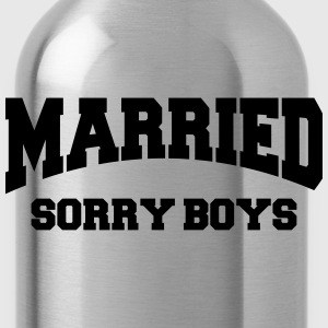 Married - Sorry boys! T-shirts - Vattenflaska