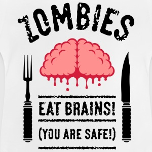 Zombies Eat Brains! You Are Safe! (3C) T-Shirts - Baby T-Shirt